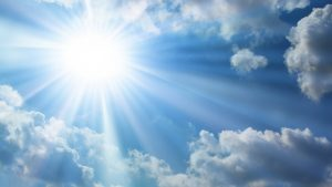 sunshine in a blue sky