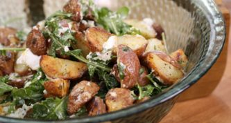 potato goat cheese greens salad