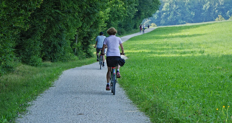 bicycles on a path