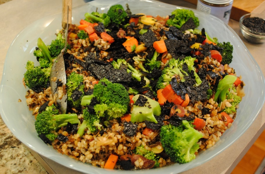 Brown Wild Rice Pilaf, Broccoli & Nori