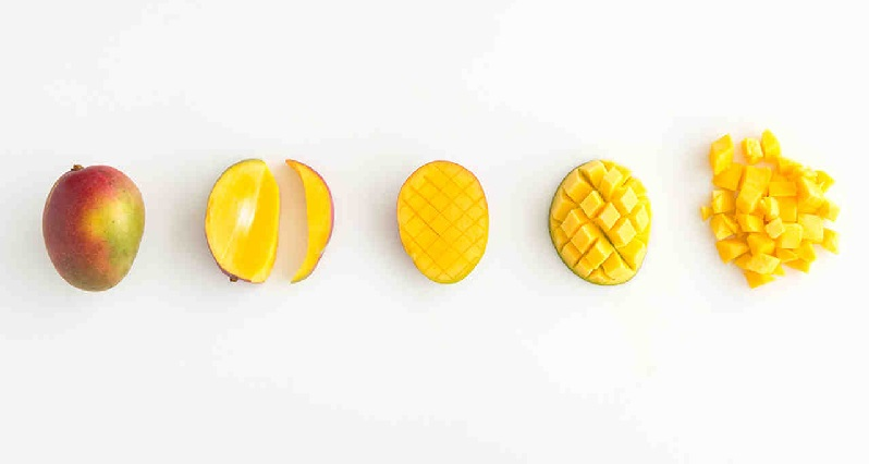 How to cut a mango, step by step