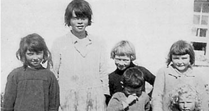 Weston Price photograph of Gaelic children with good nutrition