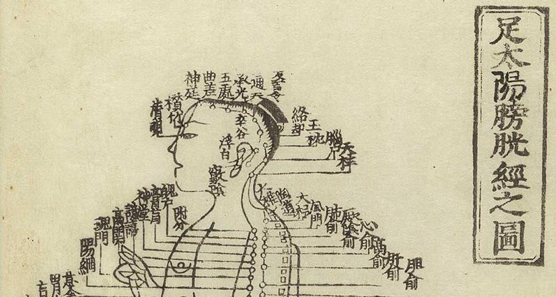antique acupuncture chart