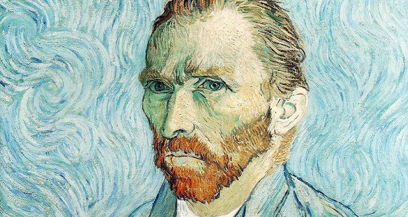 a self portrait of Vincent Van Gogh