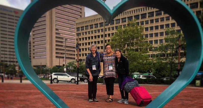 Debra, Roxanne, and Robin posing