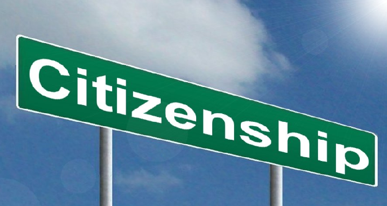 "a sign that says ""citizenship"""