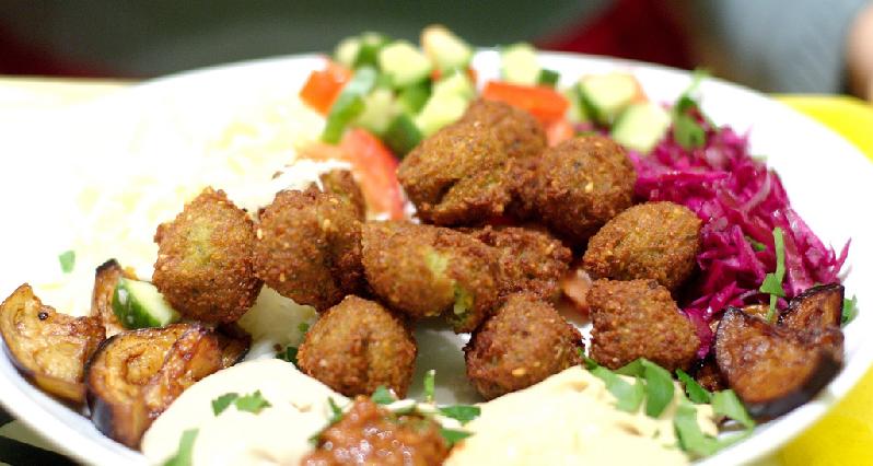 falafel on a platter