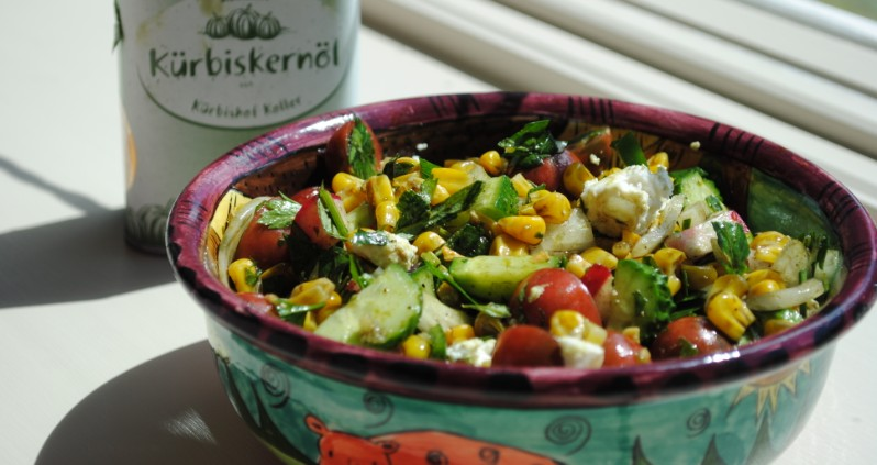 Corn Salad with Almost Everything